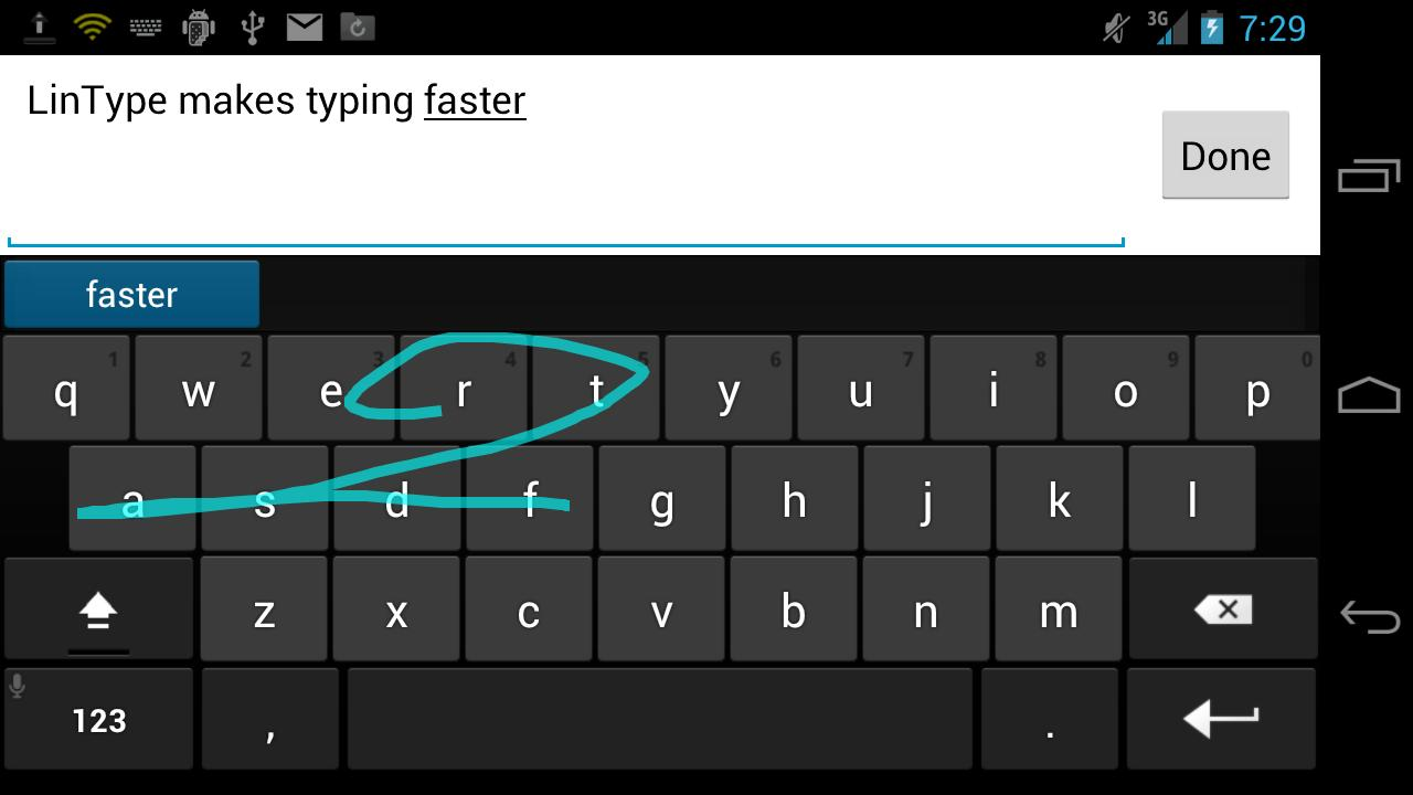 LinType Keyboard Beta- screenshot