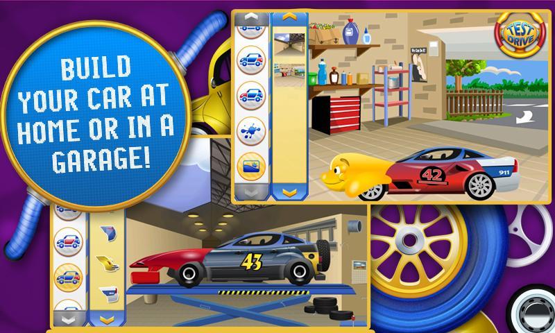 amazing car creator kids game screenshot