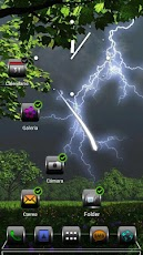 Next Launcher Theme Thunder 3D Android Personalization