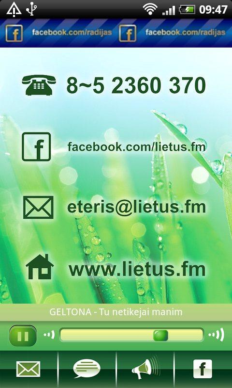 Radijo stotis LIETUS - screenshot