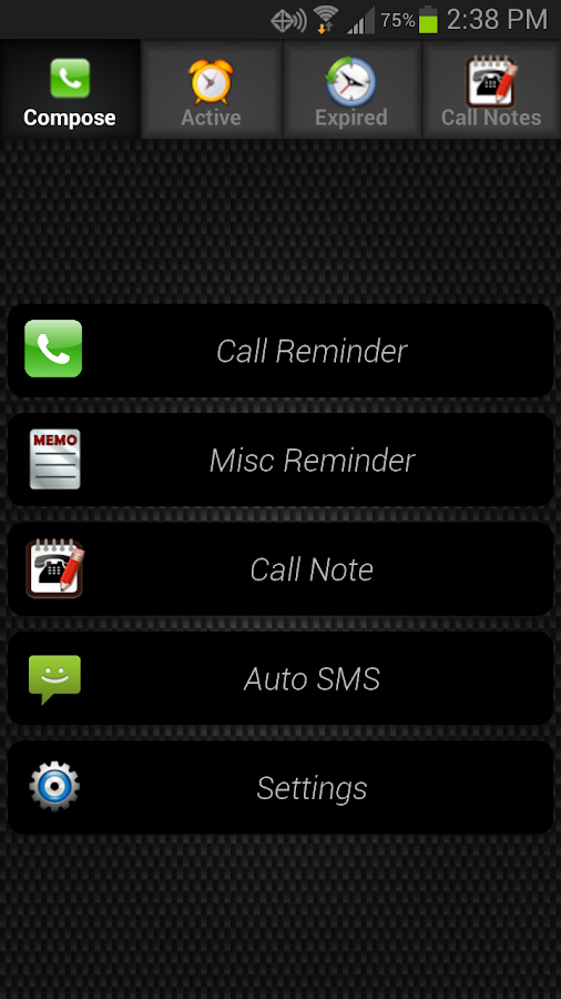 Call Reminder- screenshot