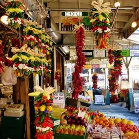 Seattle Fruit Stand by Samantha Linn - City,  Street & Park  Markets & Shops