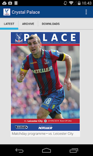 Crystal Palace FC programmes