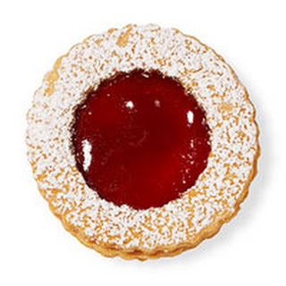 Peanutty Linzer Cookies