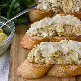 Tuna Melts with Olive Oil Mayonnaise & Parmesan.