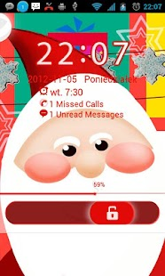 Santa Claus - GO Locker Theme- screenshot thumbnail