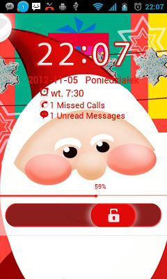 Santa Claus - GO Locker Theme - screenshot