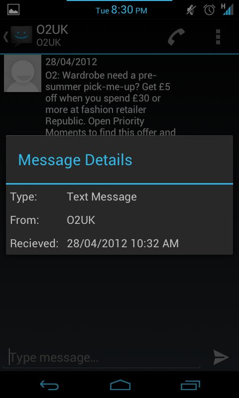 ICS SMS - screenshot