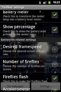 Fireflies Live Wallpaper- screenshot thumbnail