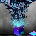 폰꾸미기 신비롭고 세련된 팝아트 나비 logo