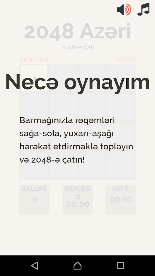 2048 Azeri- screenshot