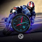 BMW Superbike Moto HD Clock