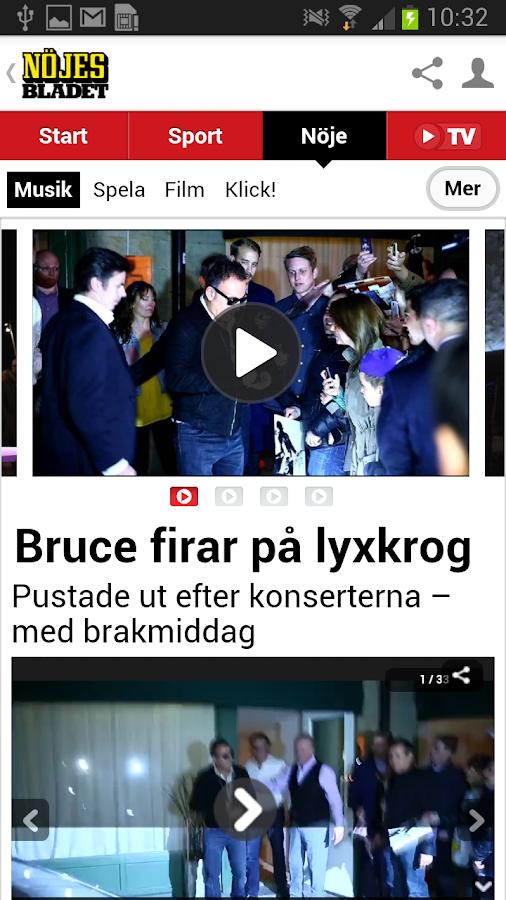 Nöjesbladet- screenshot