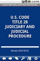 Screenshot of USC T.28 Judiciary&Judicial P.