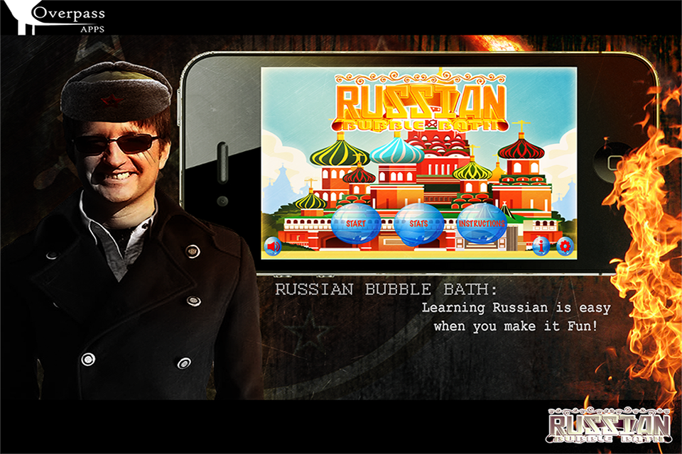 Learn Russian Bubble Bath Game- screenshot