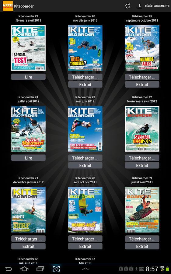 Kiteboarder Magazine – Capture d'écran