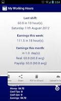 Screenshot of My Working Hours Free