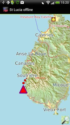 St. Lucia offline map