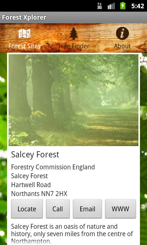 ForestXplorer- screenshot