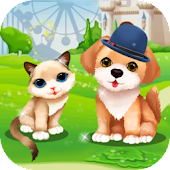 Jouful Kitten And Dog DressUp