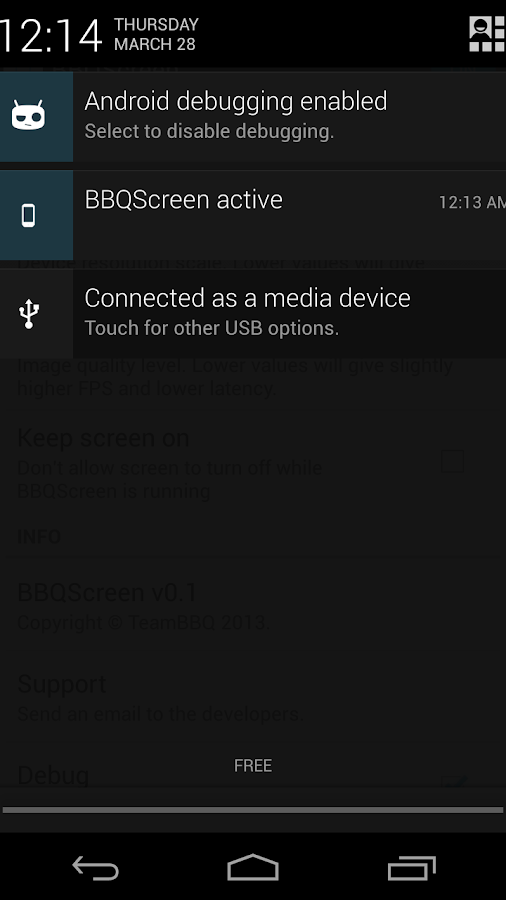 BBQScreen Remote Control- screenshot