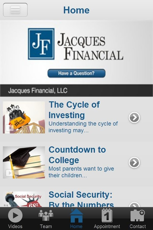 Jacques Financial- screenshot