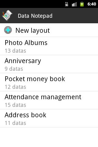 Data Notepad Free