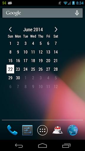 Resizable Month Widget