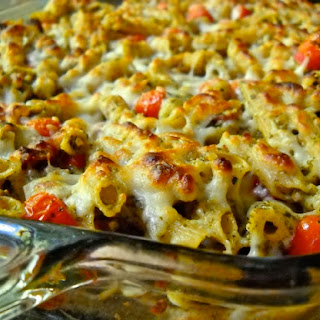 Bacon Pesto Pasta Bake Recipe