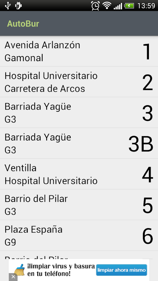AutoBur - Autobuses Burgos - screenshot