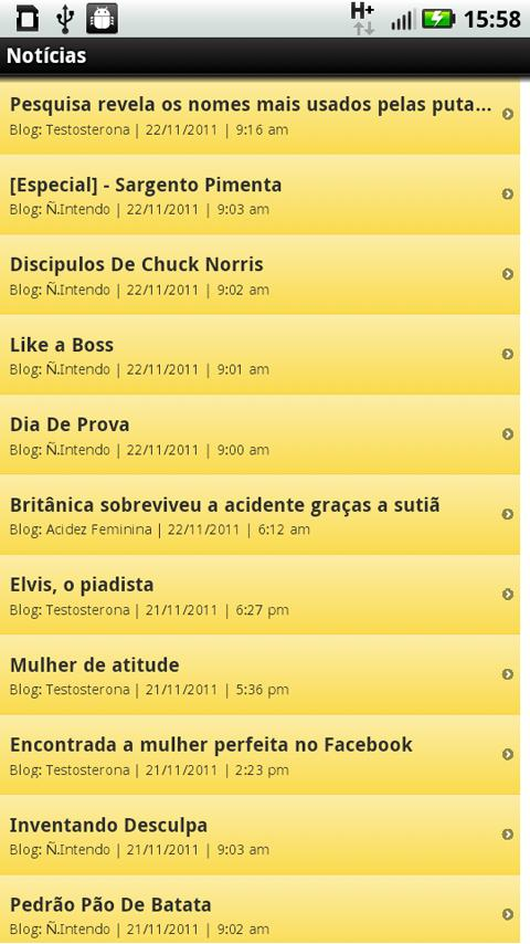 Blogs de Humor - screenshot