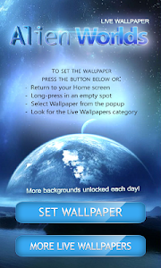 Alien Worlds Live Wallpaper screenshot 0