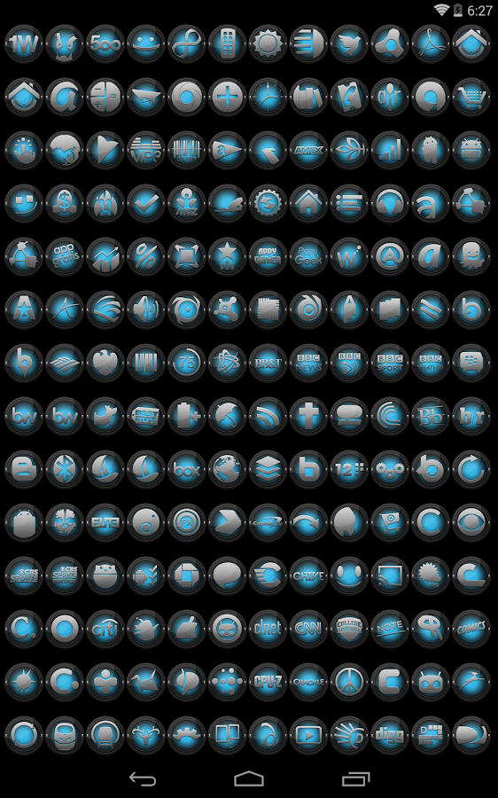 Black and ICS - Icon Pack - screenshot