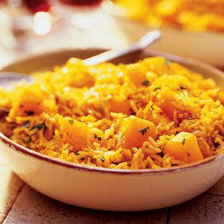 Curried Squash and Basmati Rice.