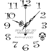 Skull simple analog clock