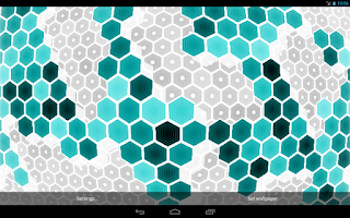 Screenshot of HexGrid Live Wallpaper