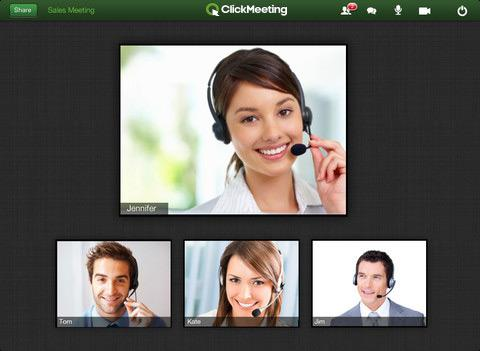 ClickMeeting Online Meetings - screenshot