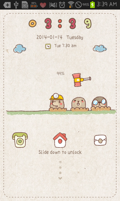 Mole game go locker theme - screenshot
