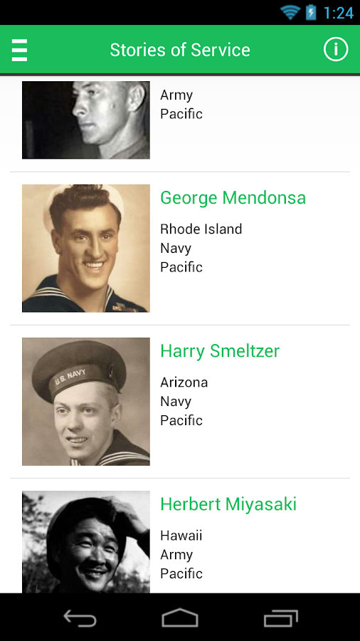 World War II Memorial App - screenshot