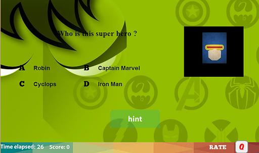 スーパーヒーローのロゴクイズ