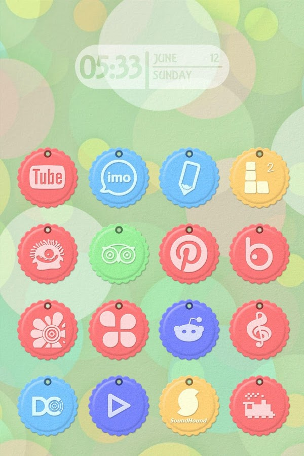 Paper Tag Icon Pack Theme - screenshot