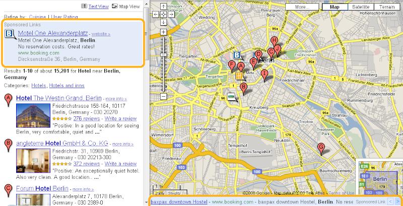 Google schaltet Werbung in Maps - GWB