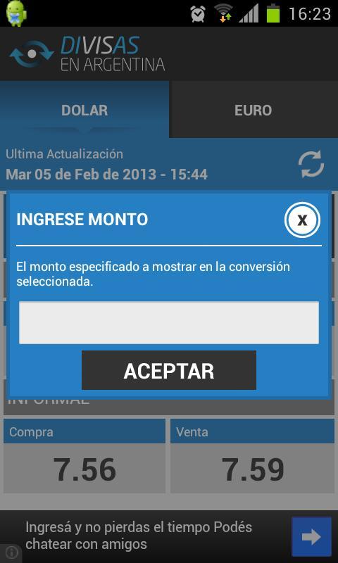 Divisas en Argentina - screenshot