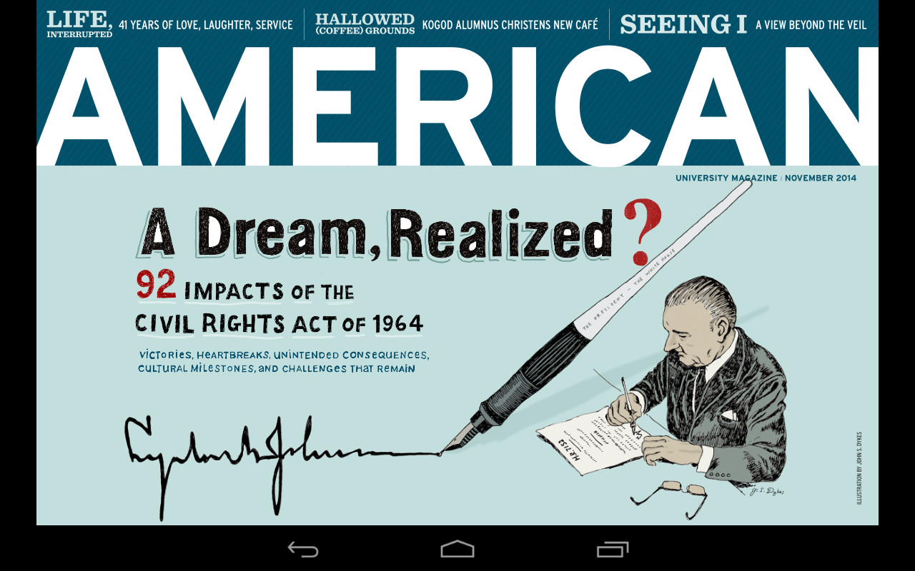 American magazine- screenshot