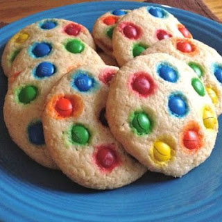 Gluten-Free M&M's Soft Sugar Cookies.