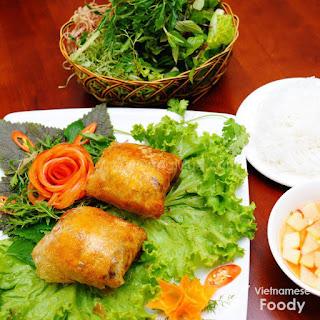 Ingredients of Vietnamese Fried Crab Spring Rolls.