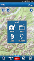 Screenshot of Trimble Outdoors Navigator