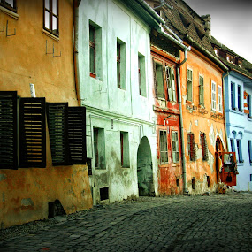 sighisoara colours by Nicu Hoandra - Buildings & Architecture Public & Historical ( street, buildings, colours )