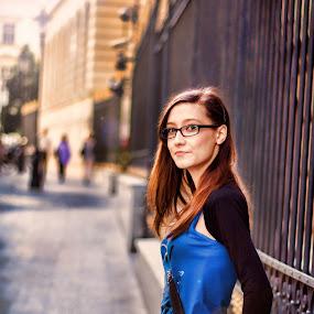 Still waiting... by Mircea Bogdan - People Street & Candids ( girl, woman, street, portrait )