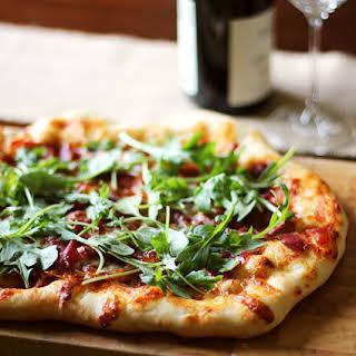 Prosciutto and Arugula Pizza.